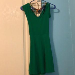La hearts green skater dress size small